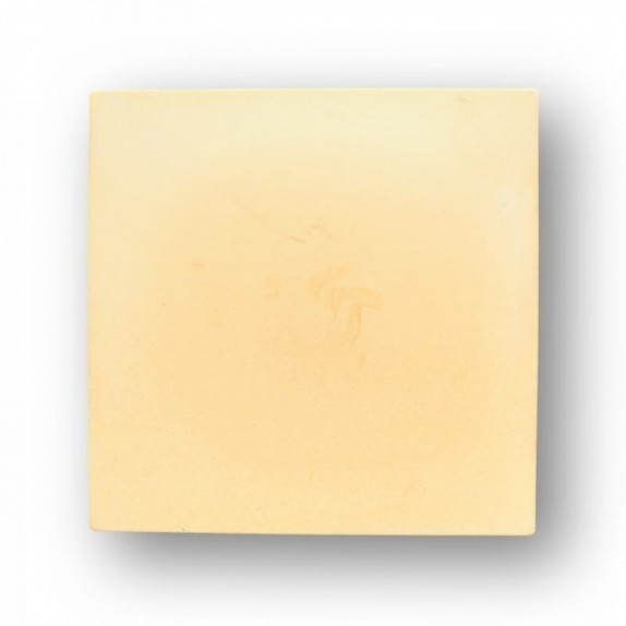 Tova de 39,5x39,5x2,5 cm aprox. Semi-manual amarilla