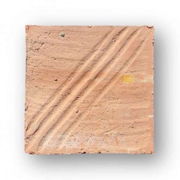 Tova de 21x21x3 cm manual DITADA roja