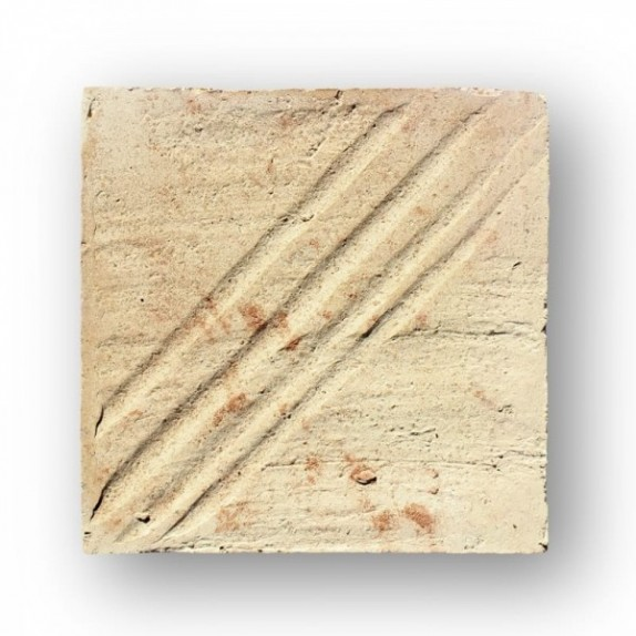 Tova de 21x21x3 cm manual DITADA blanca