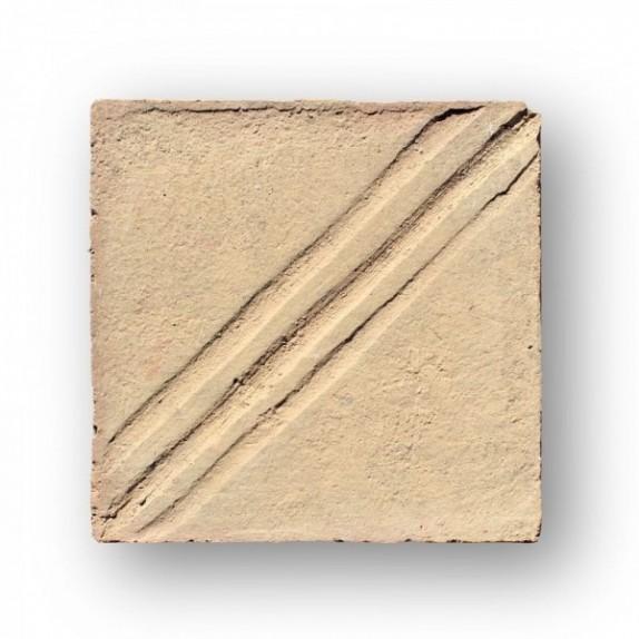 Tova de 22x22x2 cm manual DITADA blanca