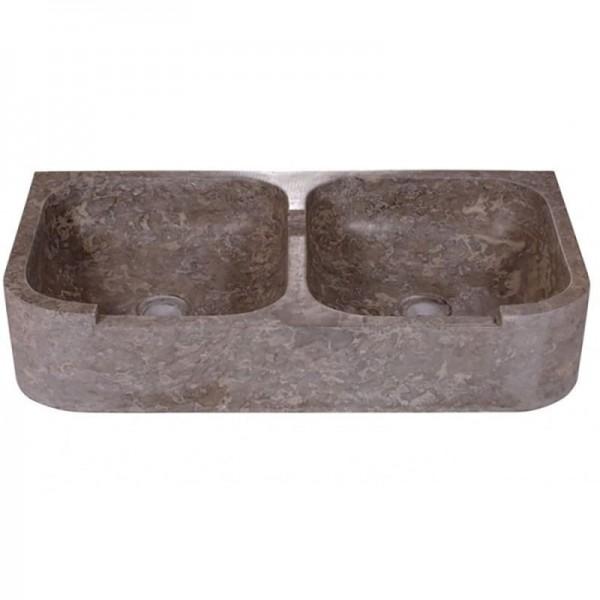 Lavamanos color gris satinado 90x46x18 cm aprox.