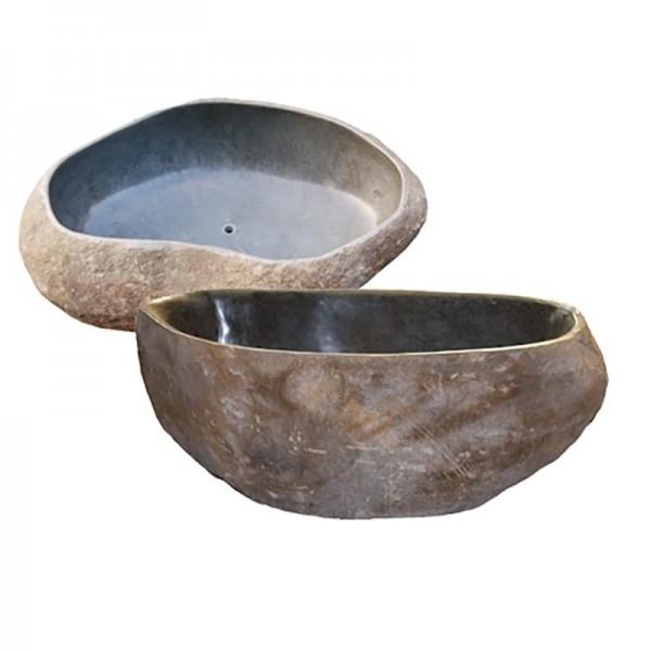 Bañera de piedra de río irregular (cada pieza es única) se puede pasar foto bajo petición y medidas (del stock).