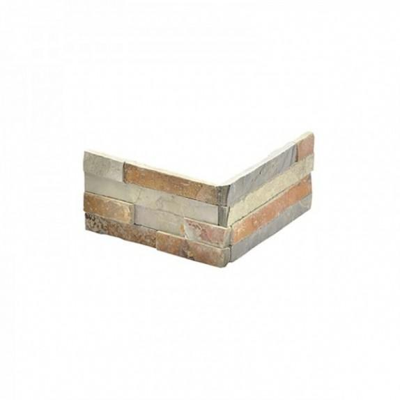Piedra natural CORNER para ir con la pieza de 10x40 cm SLIM 12 MULTICOLOR