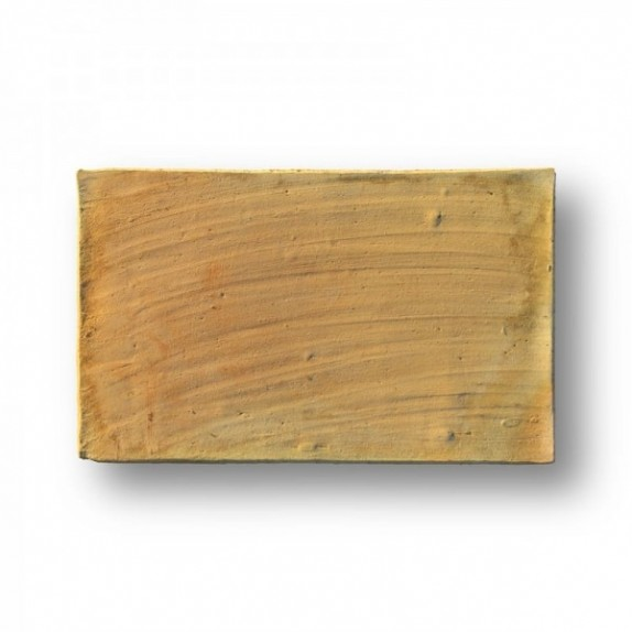 Tova de 22x36x2 cm aprox. Manual con la mano pasada amarilla