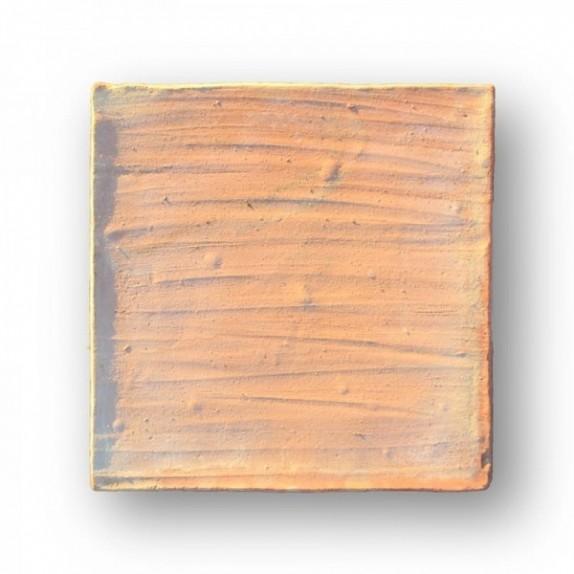 Tova de 30x30x2 cm aprox. Manual con la mano pasada roja