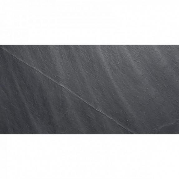 Baldosa de pizarra natural Negra de 30x60 cm