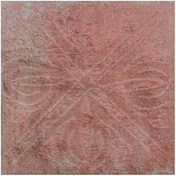 Base decorada barro gres porcelánico bicocción 20x20 cm
